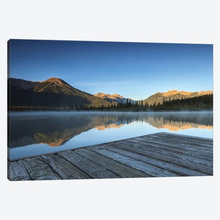 Vermilion Dock Canvas Print #LNZ235} by Sergio Lanza Canvas Wall Art