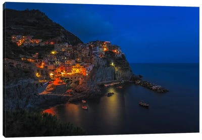 Manarola Twilight Canvas Art Print