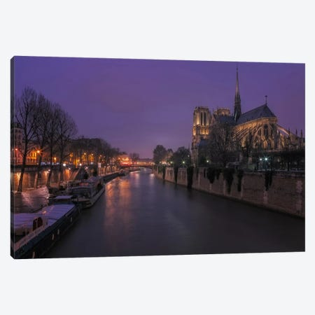 Notre Dame Canvas Print #LNZ31} by Sergio Lanza Canvas Artwork