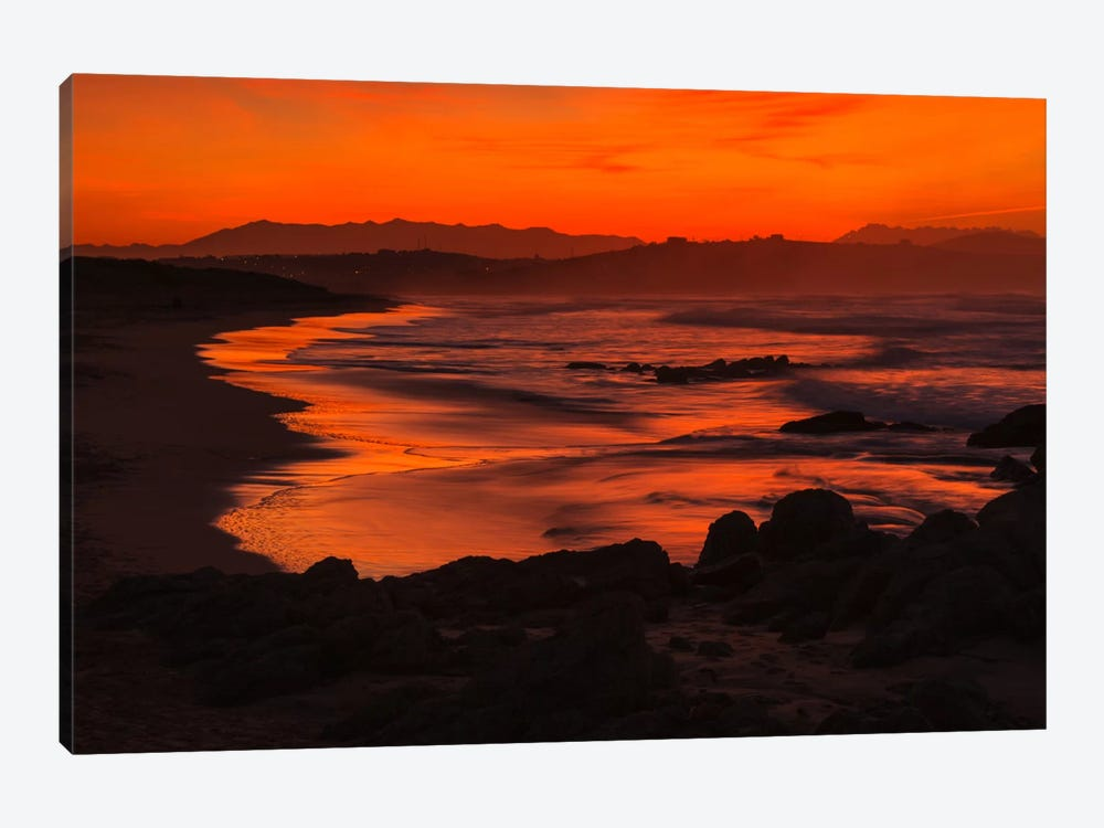 Orange Beach by Sergio Lanza 1-piece Canvas Artwork