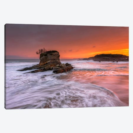 Orange Dawn Canvas Print #LNZ34} by Sergio Lanza Canvas Art Print