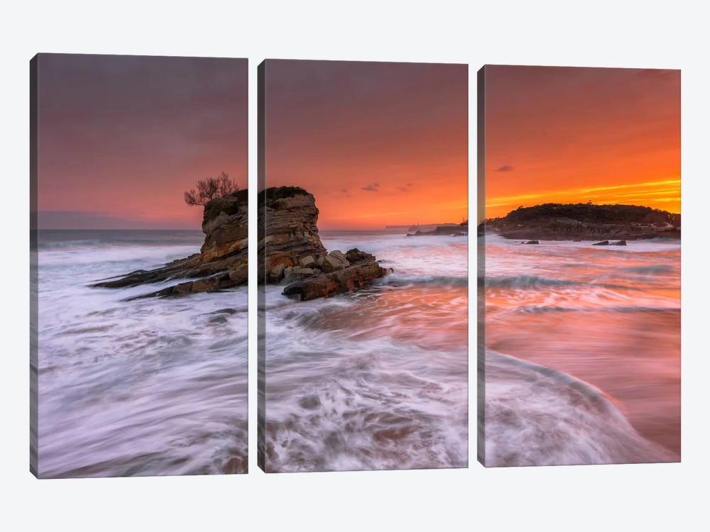 Orange Dawn by Sergio Lanza 3-piece Canvas Print