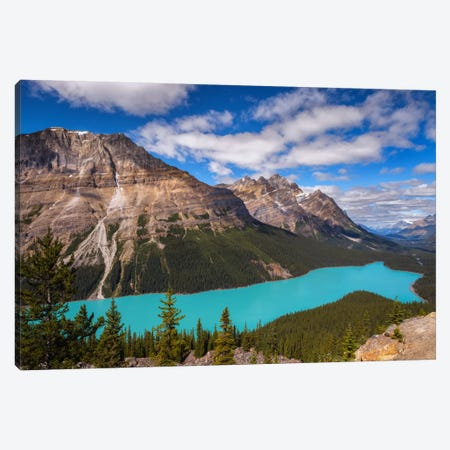 Peyto Lake Canvas Print #LNZ39} by Sergio Lanza Canvas Artwork