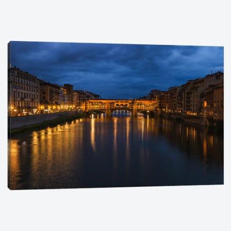 Ponte Vecchio Canvas Print #LNZ41} by Sergio Lanza Art Print