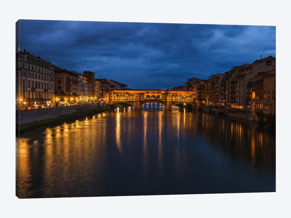 Ponte Vecchio by Sergio Lanza 1-piece Canvas Print