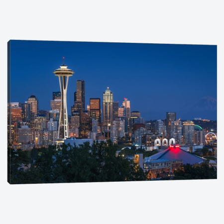 Seattle Canvas Print #LNZ50} by Sergio Lanza Canvas Art