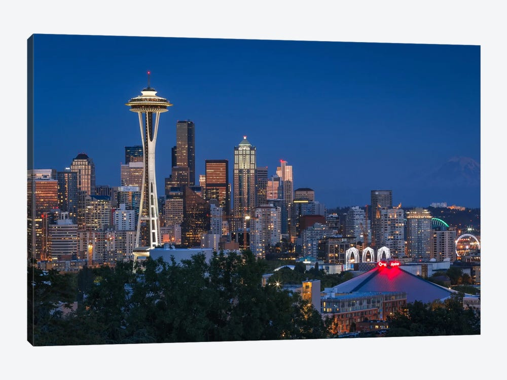 Seattle by Sergio Lanza 1-piece Canvas Art Print