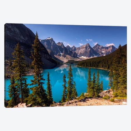 Blue Moraine Canvas Print #LNZ5} by Sergio Lanza Art Print