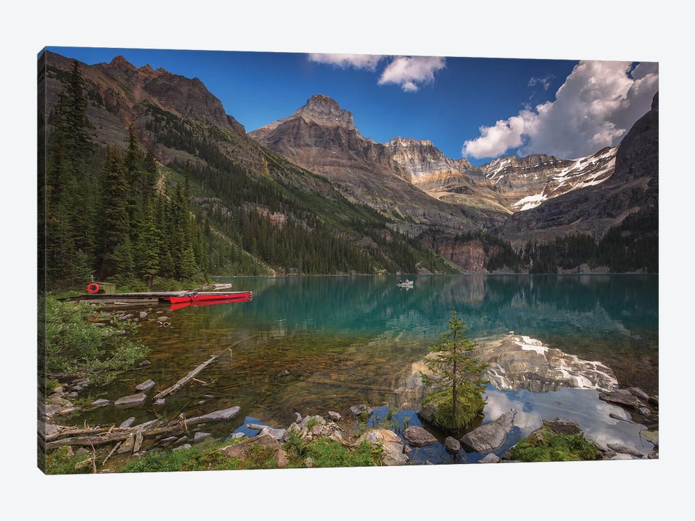 A Boat On The Lake by Sergio Lanza 1-piece Canvas Print