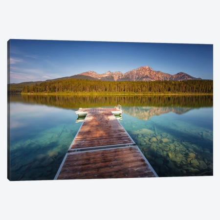 Blue Patricia Lake Canvas Print #LNZ6} by Sergio Lanza Canvas Art Print