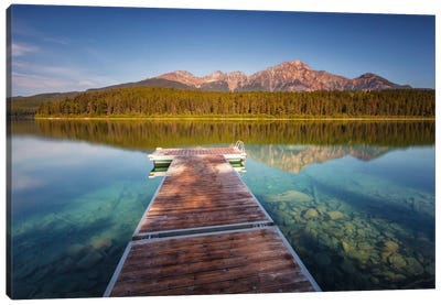 Blue Patricia Lake Canvas Art Print