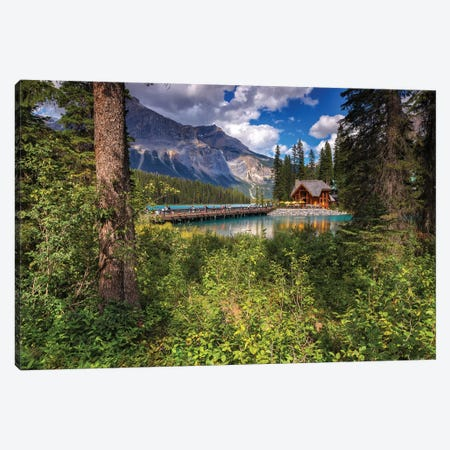 Cabin In The Woods Canvas Print #LNZ96} by Sergio Lanza Canvas Art Print
