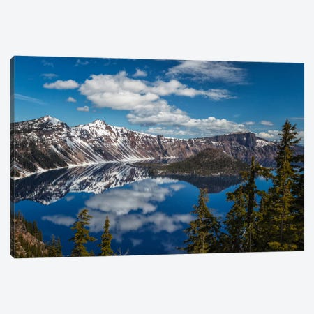 Crater Lake Canvas Print #LNZ9} by Sergio Lanza Canvas Artwork