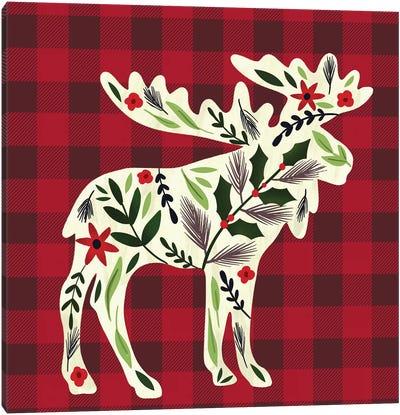 Cozy Christmas Cabin I Canvas Art Print