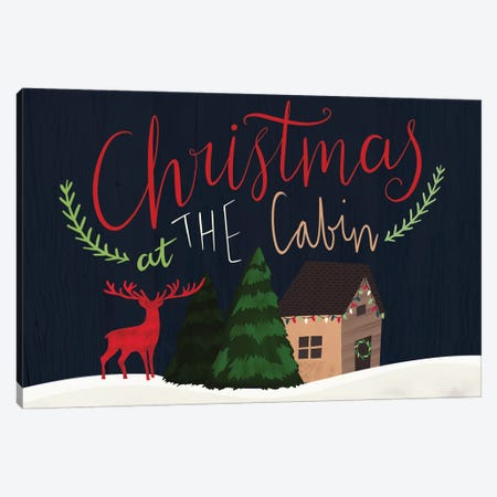 Cozy Christmas Cabin IV Canvas Print #LOA15} by Louise Allen Canvas Art Print