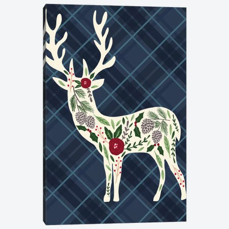 Cozy Christmas Cabin II Canvas Print #LOA17} by Louise Allen Canvas Art Print