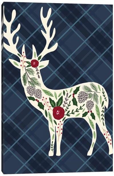 Cozy Christmas Cabin II Canvas Art Print