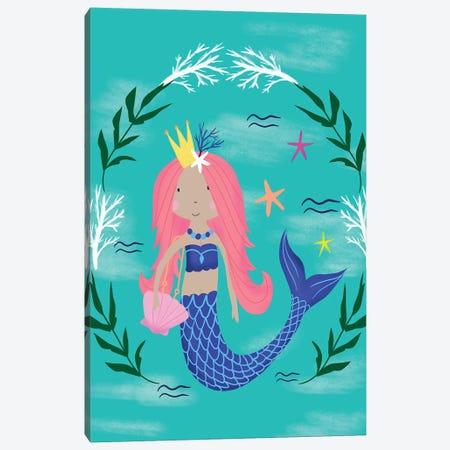 Magical Mermaids Canvas Print #LOA27} by Louise Allen Canvas Wall Art