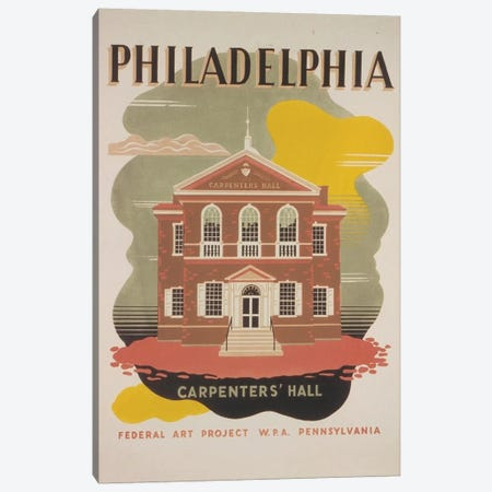 Philadelphia - Carpenters' Hall Canvas Print #LOC11} by Library of Congress Canvas Wall Art