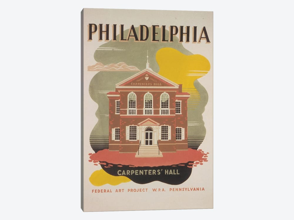 Philadelphia - Carpenters' Hall by Library of Congress 1-piece Canvas Print