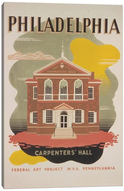 Philadelphia - Carpenters' Hall Canvas Art Print