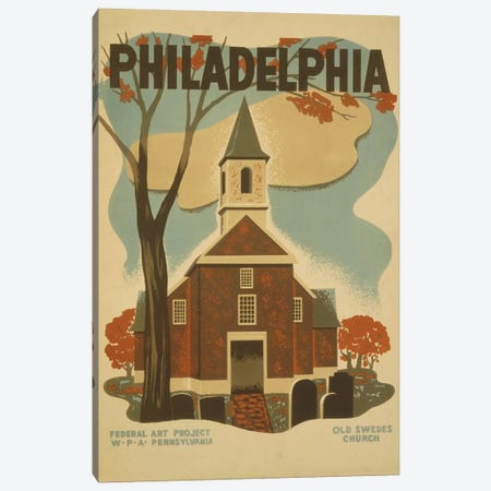 Philadelphia - Old Swedes Church Canvas Print #LOC12} by Library of Congress Canvas Art