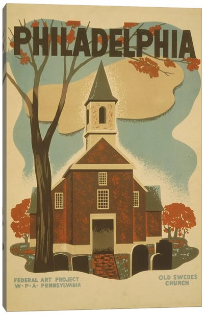 Philadelphia - Old Swedes Church Canvas Art Print