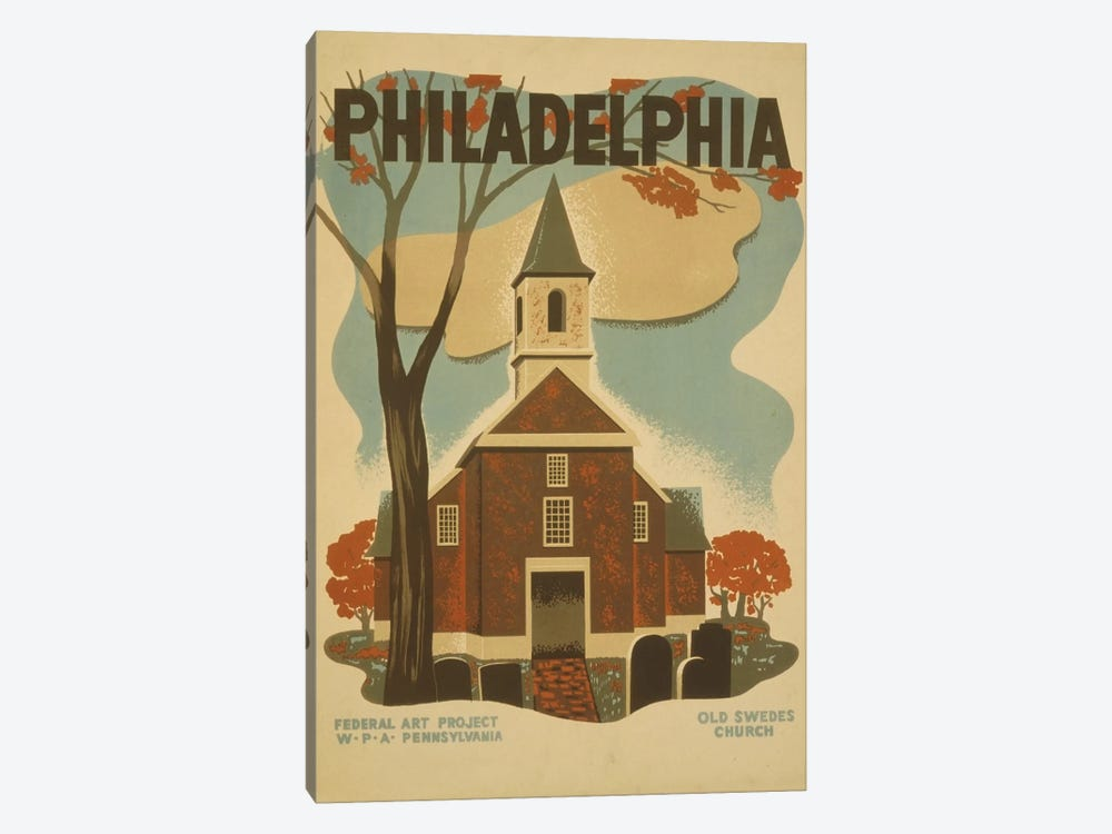 Philadelphia - Old Swedes Church by Library of Congress 1-piece Canvas Art