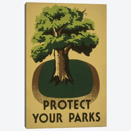 Protect Your Parks Canvas Print #LOC13} by Library of Congress Canvas Wall Art