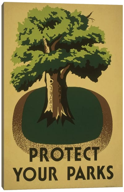 Protect Your Parks Canvas Art Print