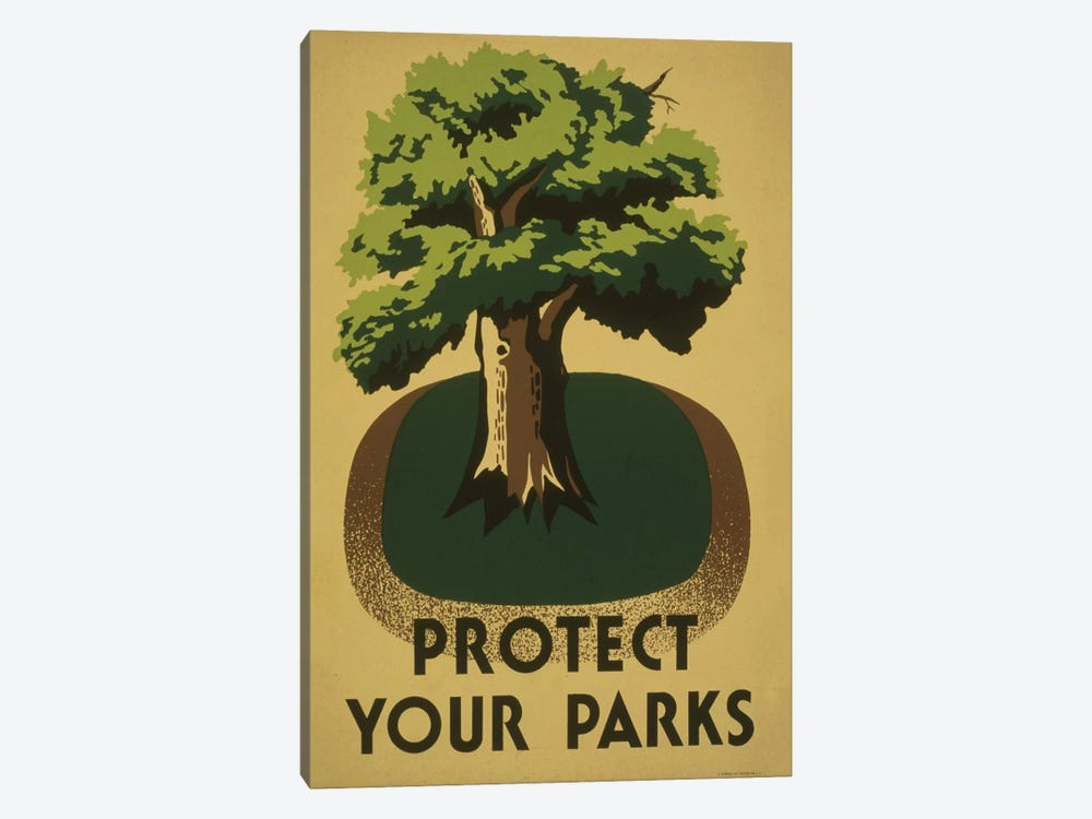 Protect Your Parks by Library of Congress 1-piece Canvas Print