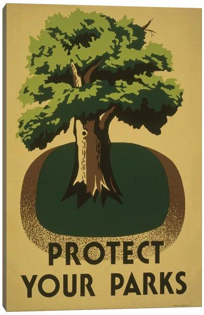 Protect Your Parks Canvas Art Print