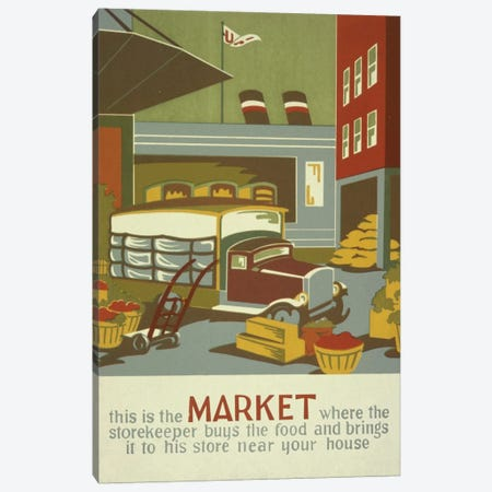 The Marketplace Canvas Print #LOC14} by Library of Congress Canvas Print
