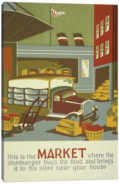 The Marketplace Canvas Art Print