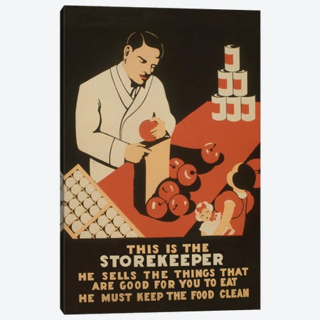 The Storekeeper Canvas Print #LOC16} by Library of Congress Canvas Art Print