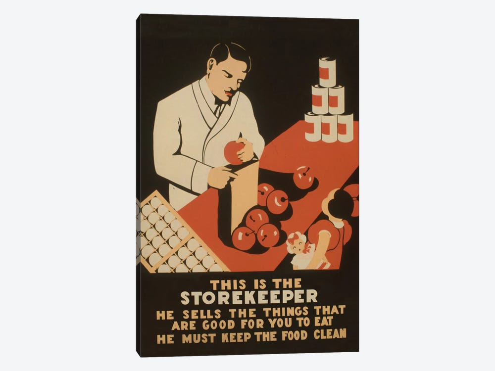 The Storekeeper by Library of Congress 1-piece Canvas Wall Art