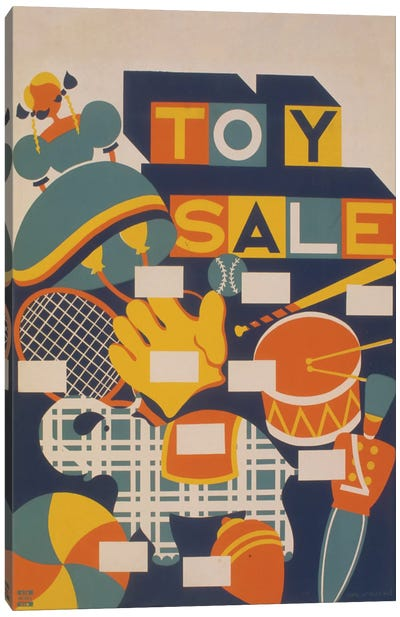 Toy Sale Canvas Art Print