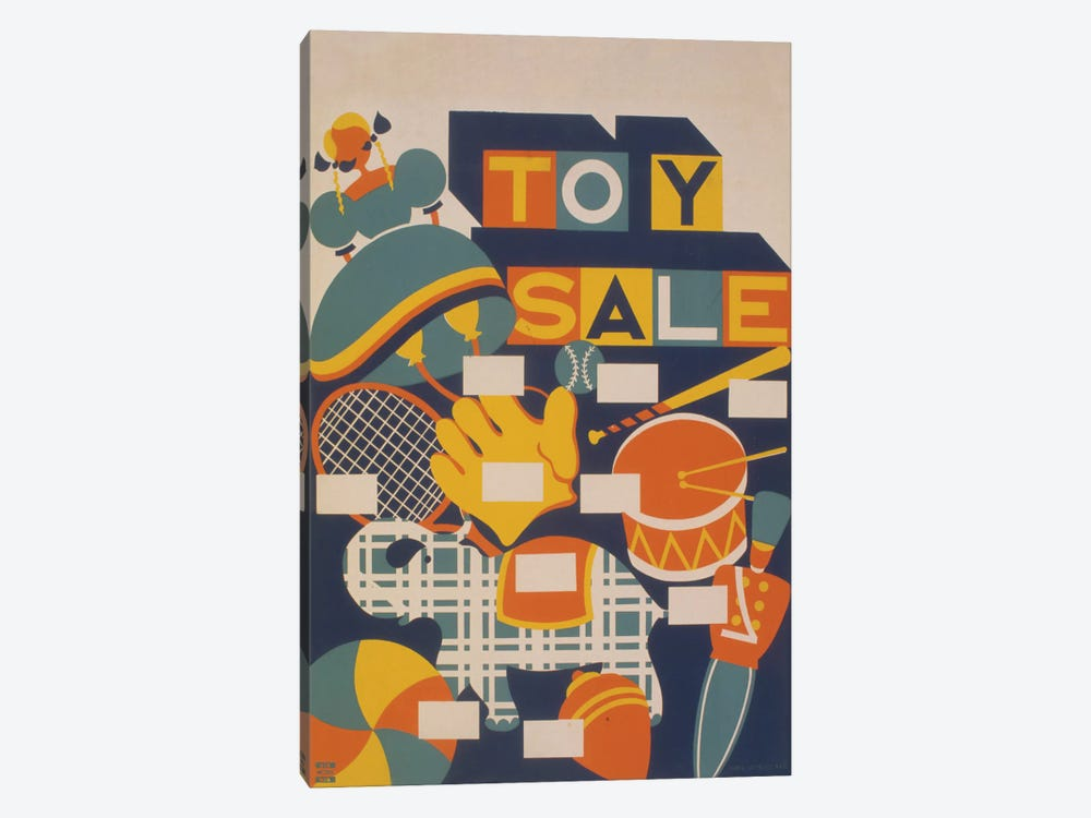 Toy Sale by Library of Congress 1-piece Canvas Print