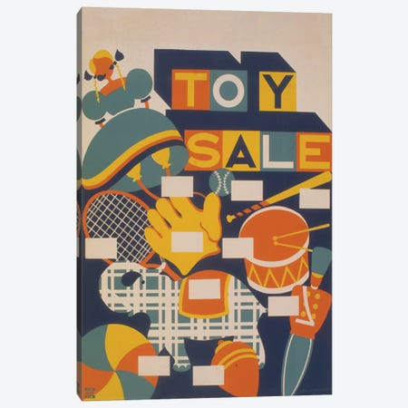 Toy Sale Canvas Print #LOC17} by Library of Congress Canvas Print