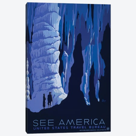 U.S. Travel Bureau See America Series: Caverns Canvas Print #LOC18} by Library of Congress Canvas Artwork