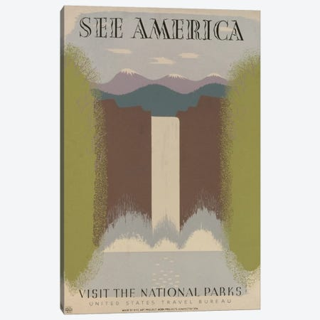 Visit The National Parks Canvas Print #LOC19} by Library of Congress Canvas Art