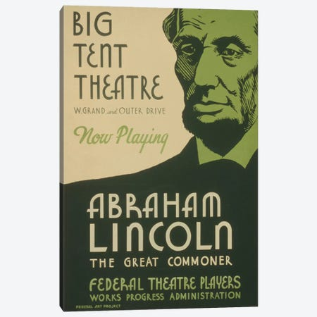Abraham Lincoln: The Great Commoner Canvas Print #LOC1} by Library of Congress Canvas Art Print