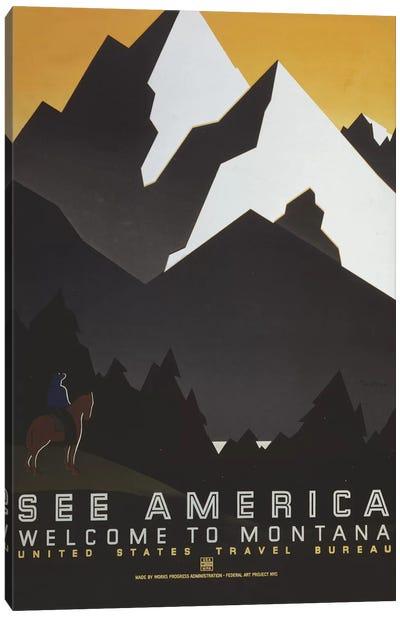 Welcome To Montana III Canvas Art Print