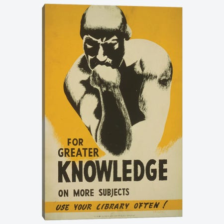 Use Your Library Often! Canvas Print #LOC23} by Library of Congress Art Print