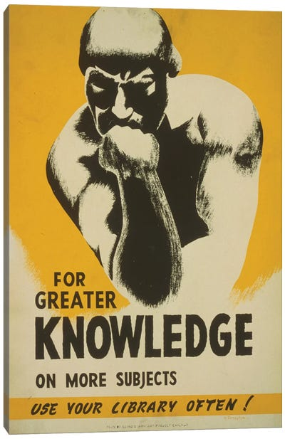 Use Your Library Often! Canvas Print #LOC23