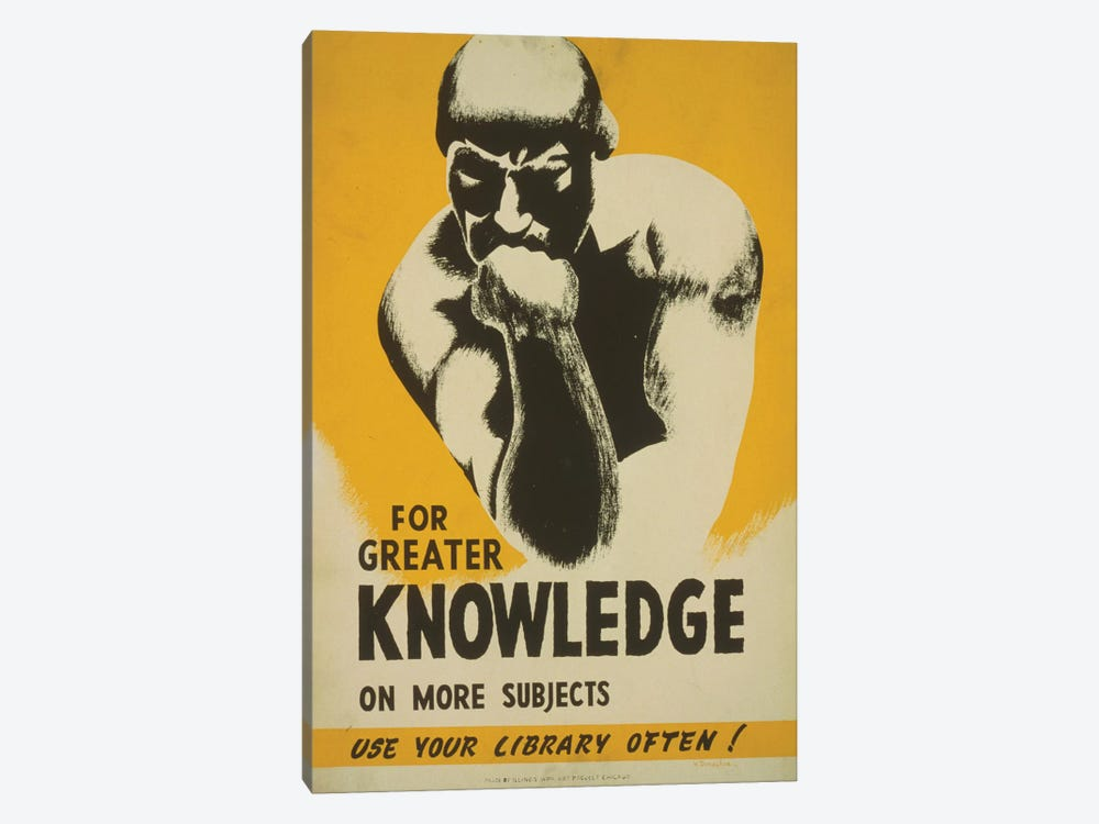 Use Your Library Often! by Library of Congress 1-piece Canvas Wall Art
