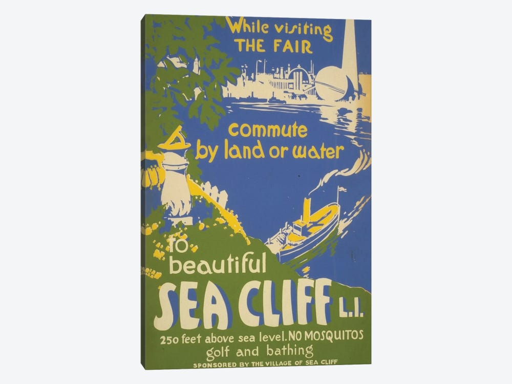 Visit Sea Cliff, L.I. by Library of Congress 1-piece Canvas Artwork