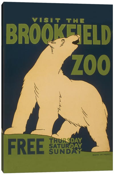 Visit The Brookfield Zoo Canvas Art Print