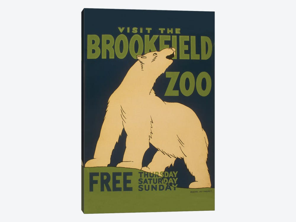Visit The Brookfield Zoo by Library of Congress 1-piece Art Print