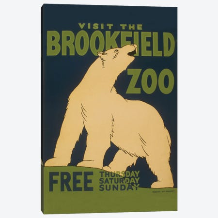 Visit The Brookfield Zoo Canvas Print #LOC26} by Library of Congress Canvas Wall Art